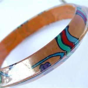 Jewelry - Cool Peachy Orange Acrylic Bangle